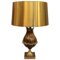 "Large Gilt Bronze ""Mangue"" Table Lamp"