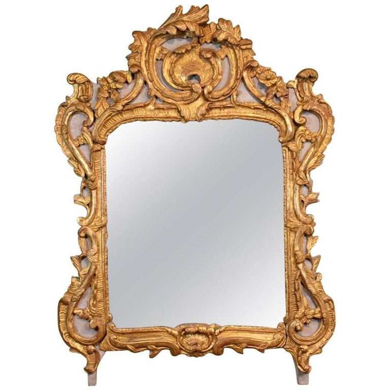 Louis XV Period Trumeau Mirror