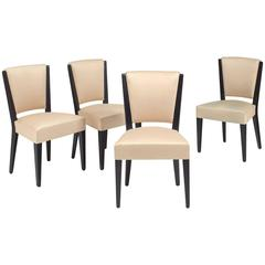 Eugène Printz, a Rare Set of Four Chairs and Two Armchairs, circa 1933