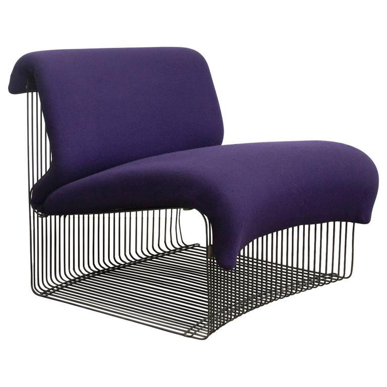 1971 verner panton for rosenthal pantonova lounge chair in original fabric for sale at 1stdibs. Black Bedroom Furniture Sets. Home Design Ideas