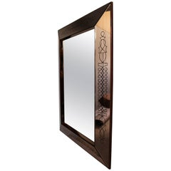 A Fine French Art Deco Rectangular Mirror by Max Ingrand
