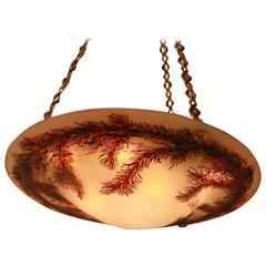 Emile Galle Cameo Art Glass Chandelier