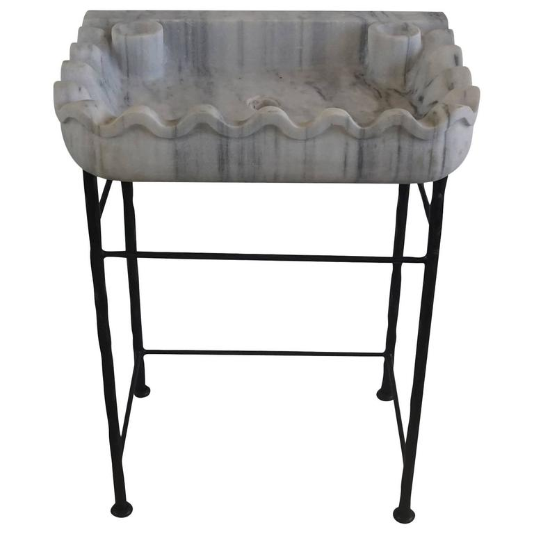 Late 19th century italian carrara marble sink basin for for Antique stone sinks for sale