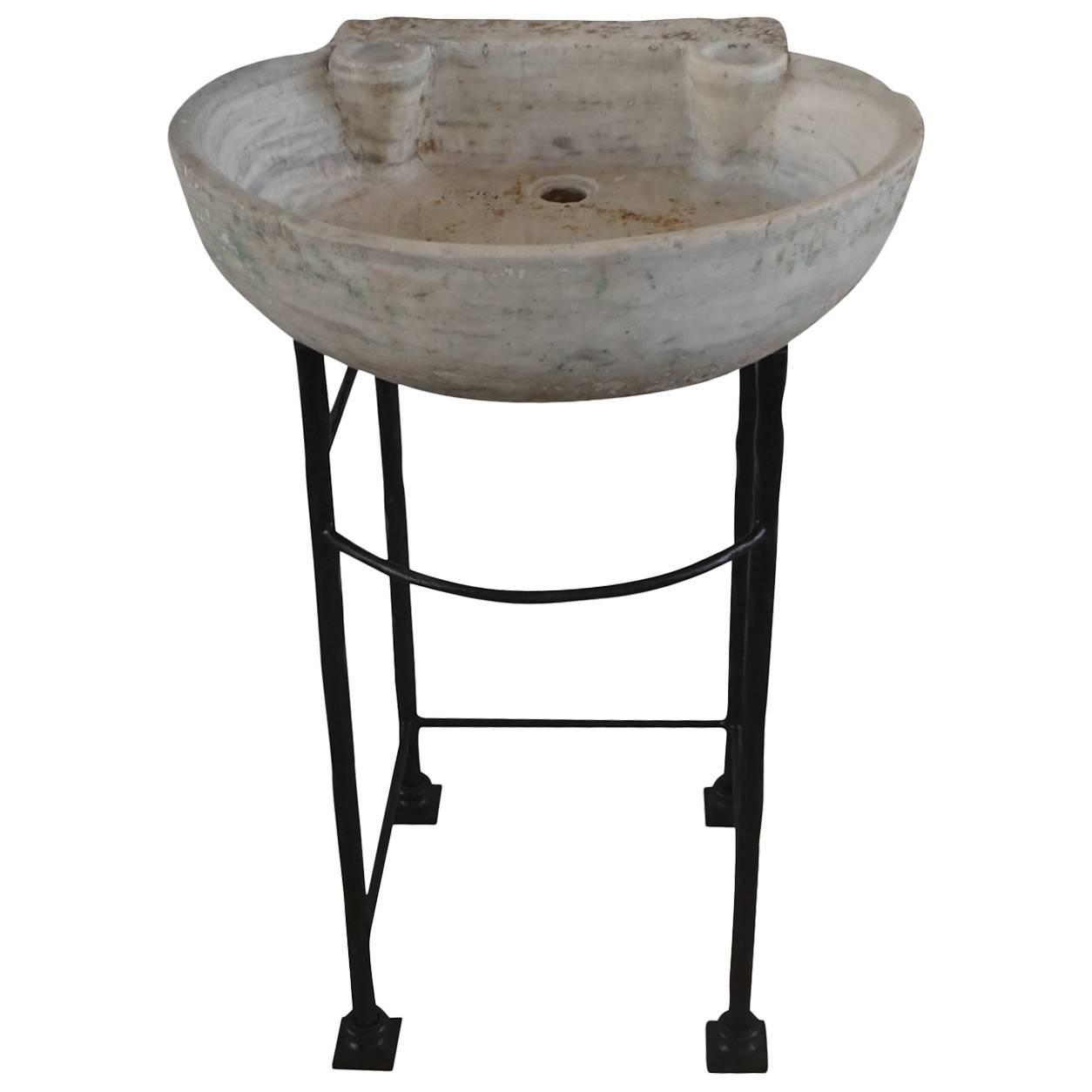 Carrara Marble Sink : 19th Century Carrara Oval Marble Sink Basin Vanitiy, Italy For Sale at ...
