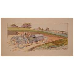"""Coupe Gordon-Bennett"" from ""10 Ans De Courses"" by Ernst Montaut, 1907-1908"