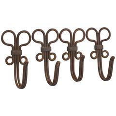 Four Jugendstil Hooks