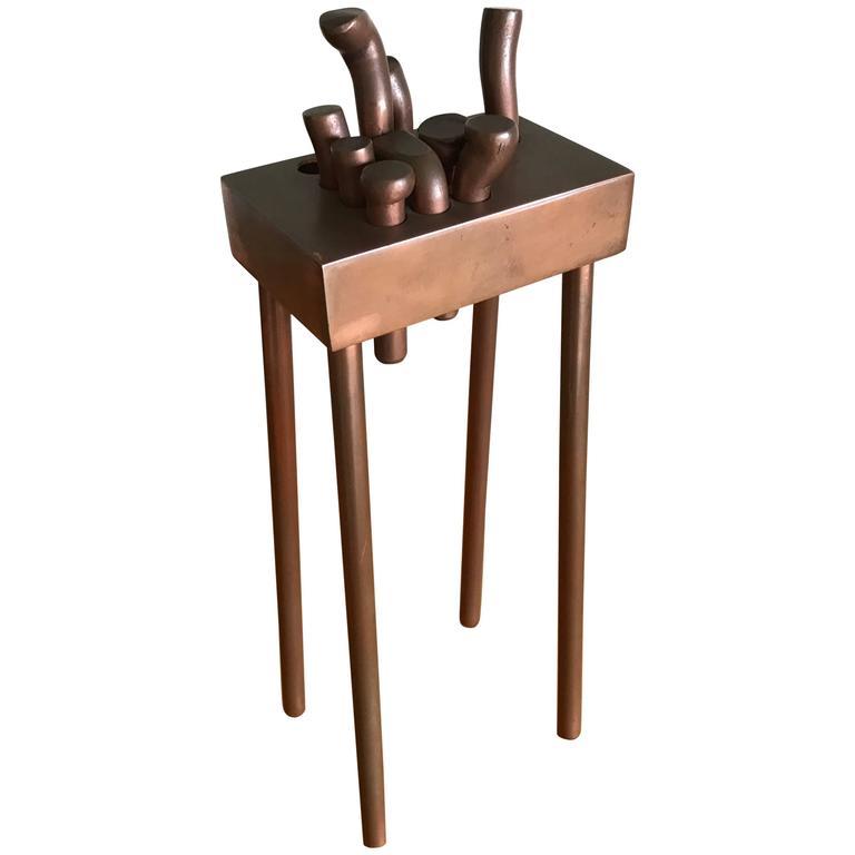 Bay Artist Charles Splady Bronze Abstract Sculpture 1