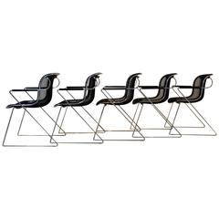 Set of Charles Pollock Penelope Chairs for Castelli, Italy