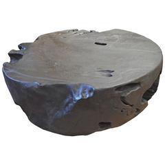Triple Burnt Teak Wood Coffee Table