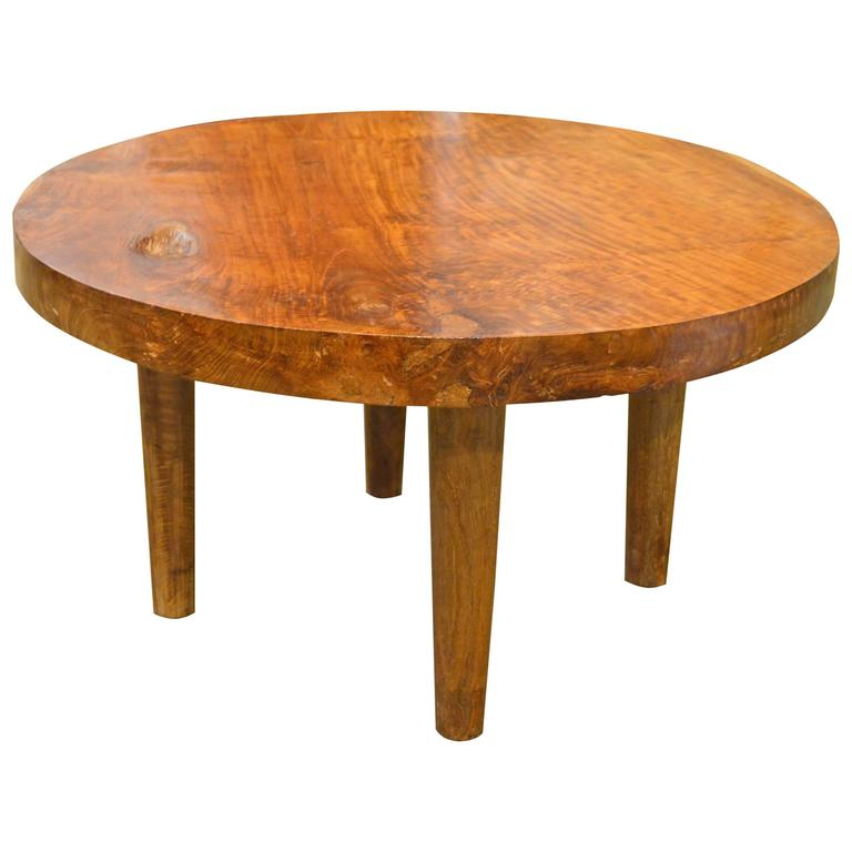 Mid Century Style Organic Teak Wood Coffee Table For Sale At 1stdibs