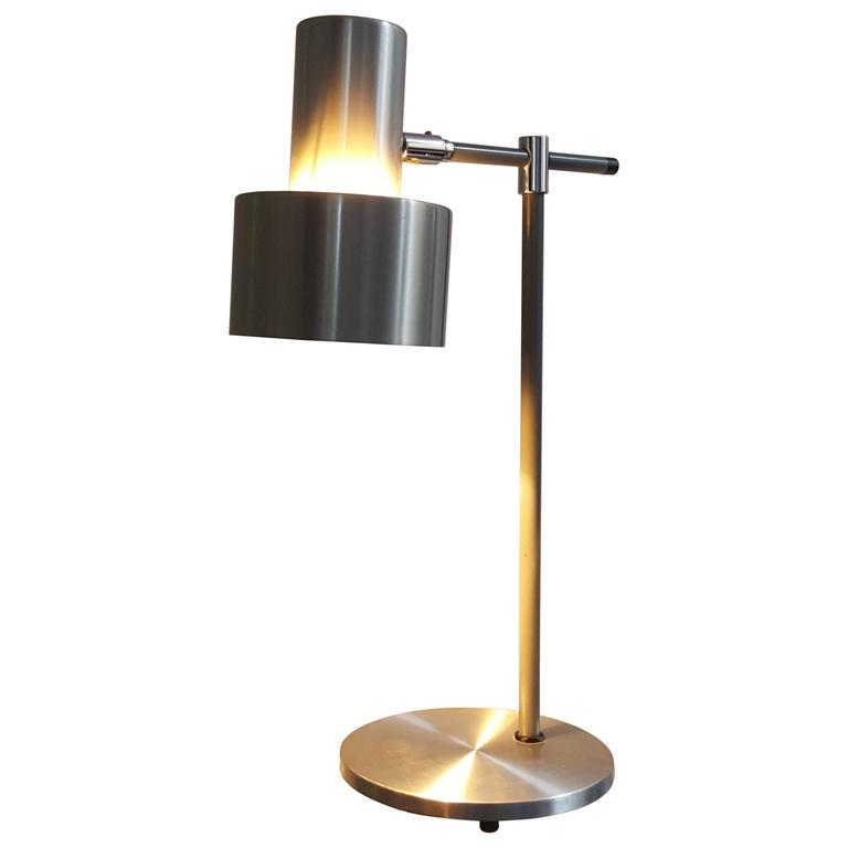 Jo Hammerborg Aluminium Lento table lamp for Fog & Mørup, 1960s