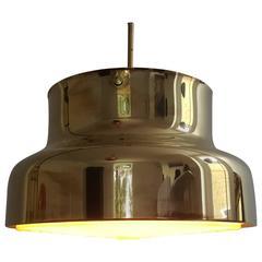 "Anders Pehrson ""Bumling"" Brass Ceiling Pendant for Atelije Lyktan, Sweden, 1970s"