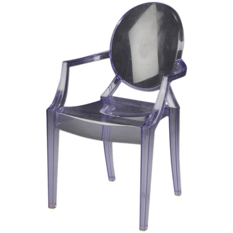 purple kartell louis ghost chair by philippe starck for sale at 1stdibs