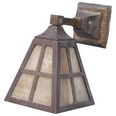 1910 Arts and Crafts Wall Mount Light