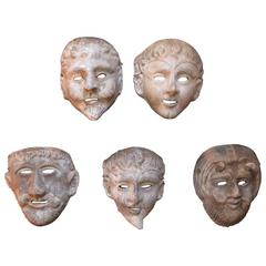 Collection of 20th Century Mexican Terra Cotta Masks