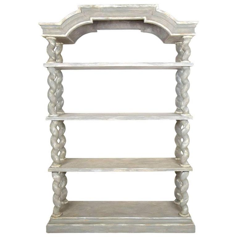 Italian Baroque Carved Wood Etagere