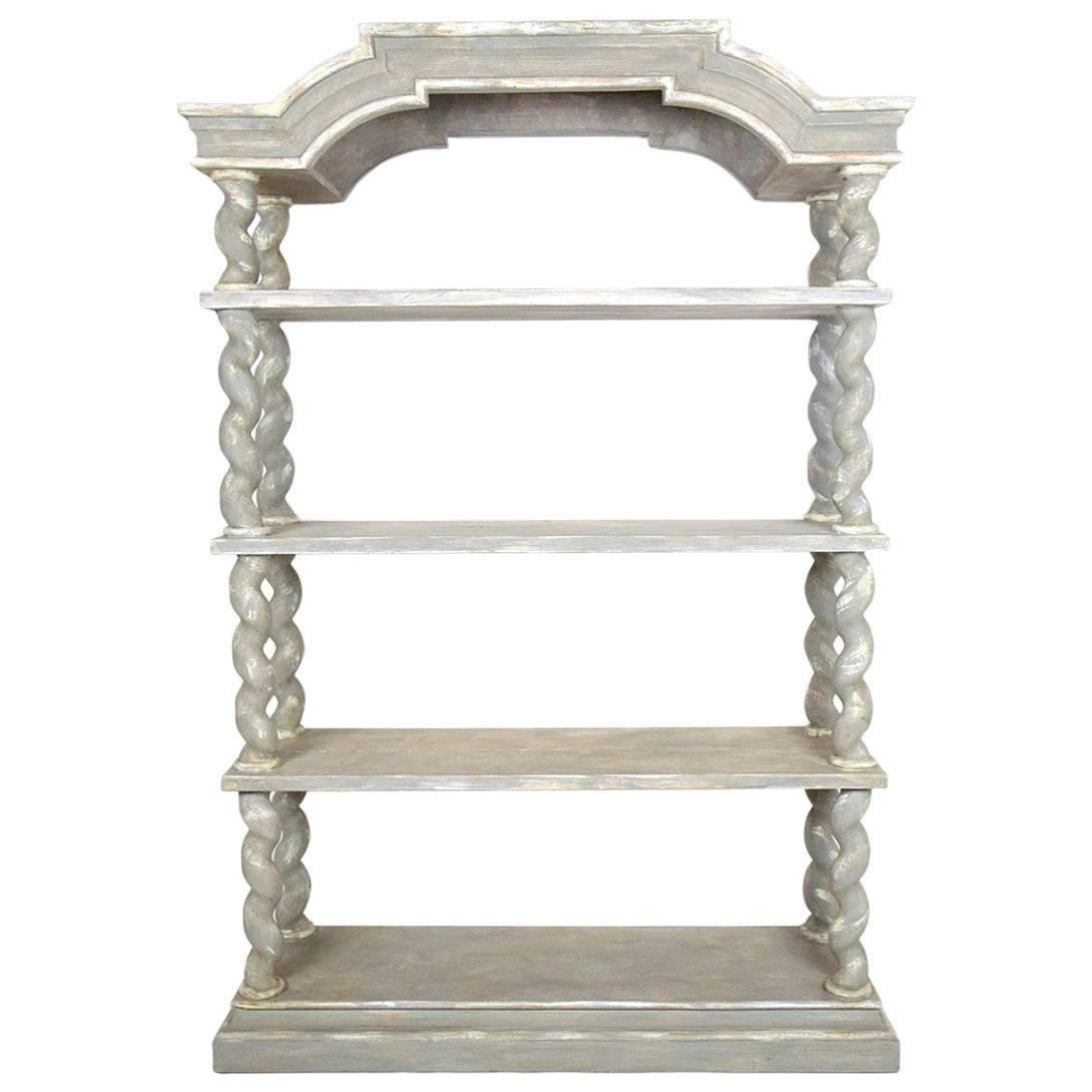Italian Baroque Carved Wood Etagere At 1stdibs
