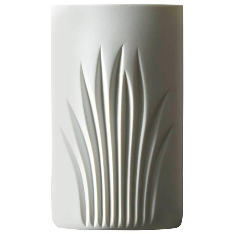 White Matte Porcelain Vase by C J Riedel - Special Edition 100 Years Rosenthal For Sale