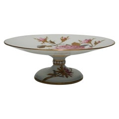 European Porcelain Tazza, Dessert, or Cake Plate