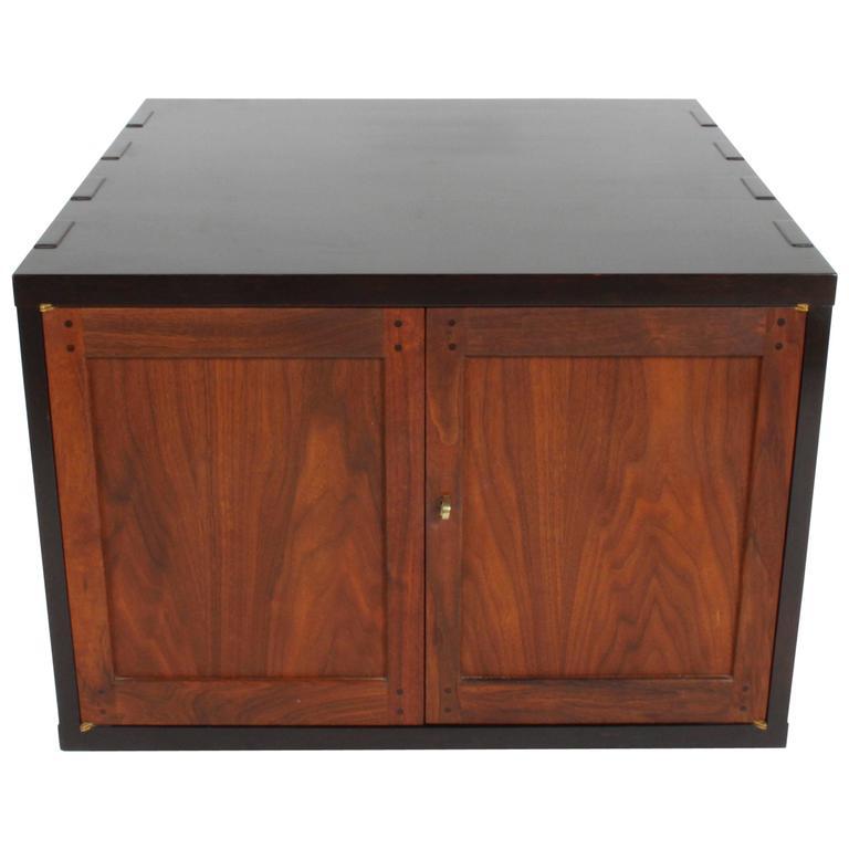 Edward Wormley for Dunbar Rare Janus Cabinet in the Style of Greene & Greene For Sale