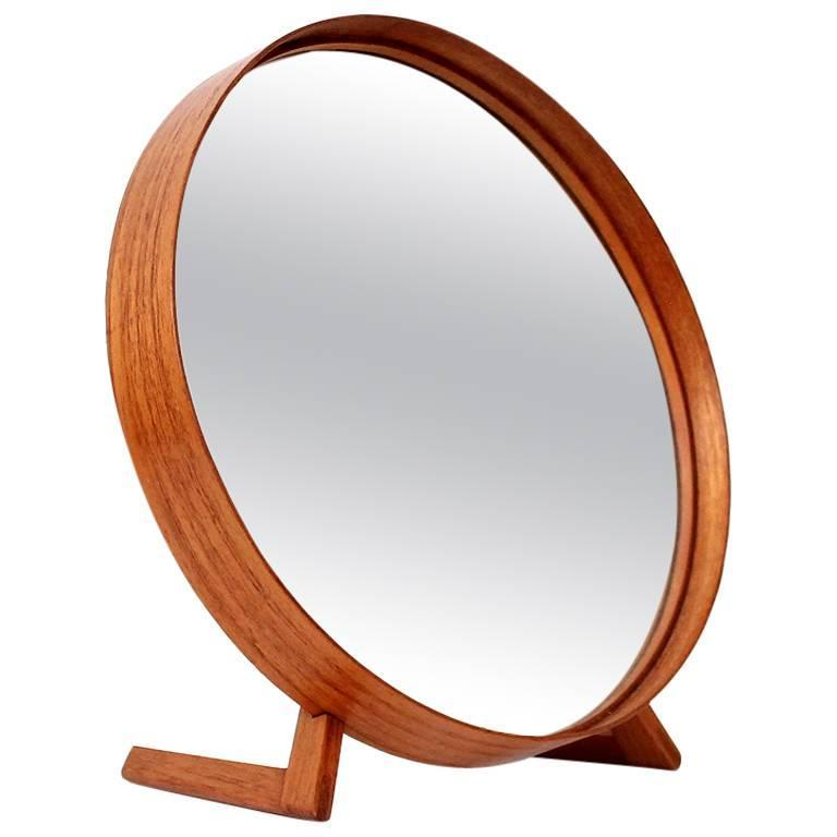 Teak Table Mirror by Uno & Osten Kristiansson for Luxus For Sale