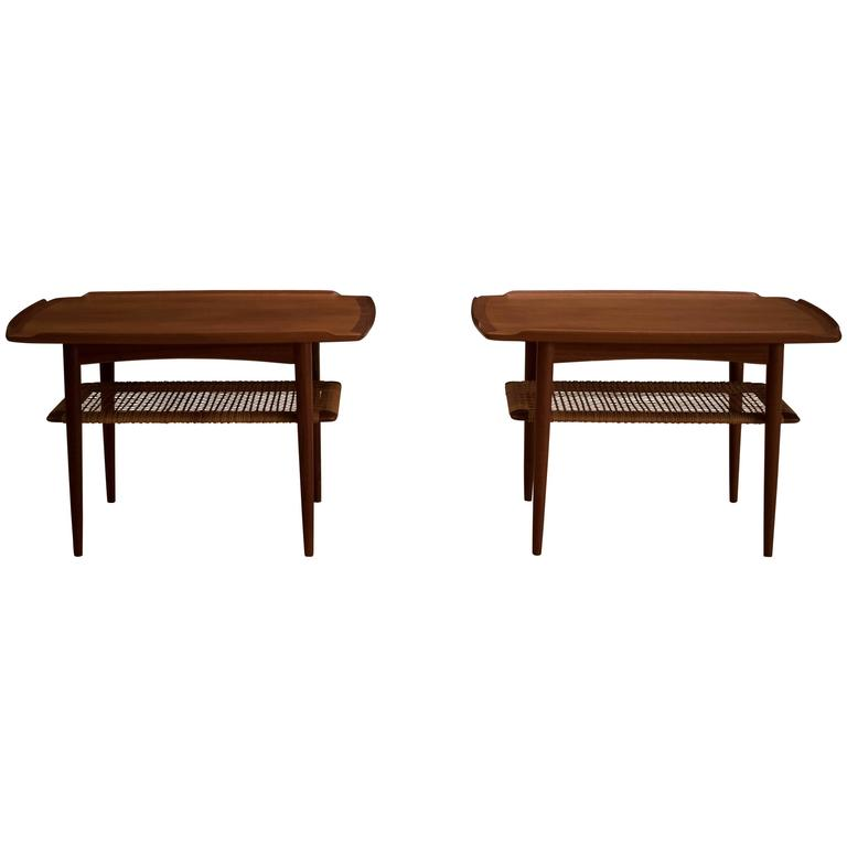 Nice Danish Teak Poul Jensen Side Tables For Sale