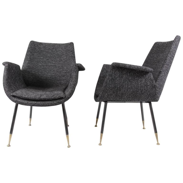 Pair of Little Armchairs by Gastone Rinaldi for RIMA, 1956