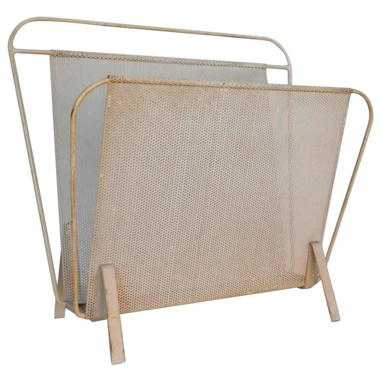 1950s Magazine Rack by Mathieu Matégot and/or Floris Fiedeldij for Artimeta
