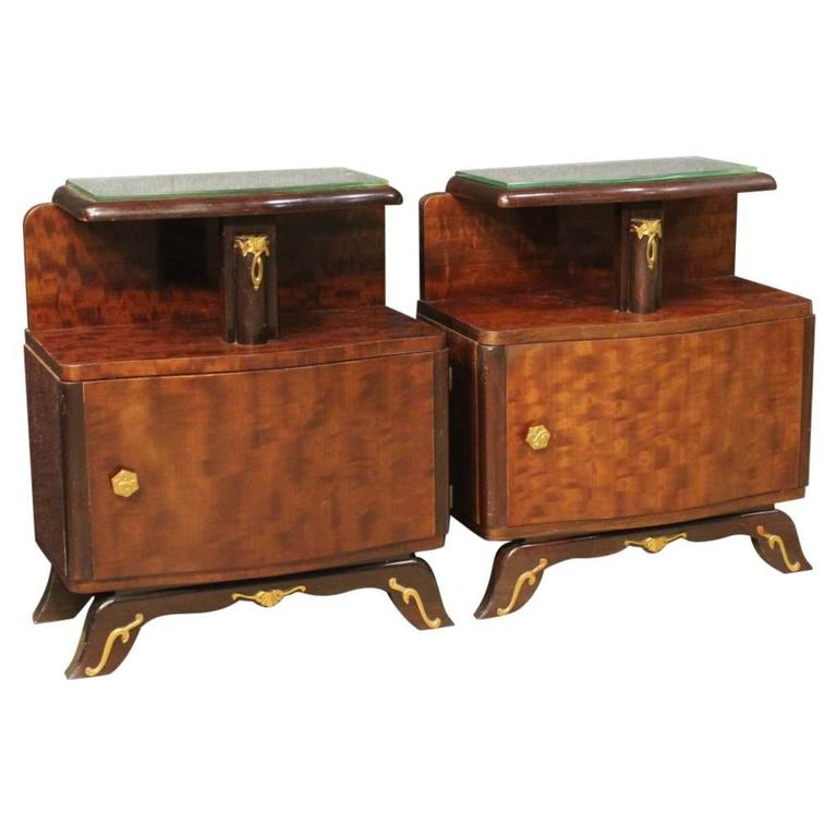 20th Century Pair of French Bedside Table in Art Deco Style