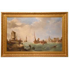 """""""A Dutch Estuary"""" by Alfred Montague"""