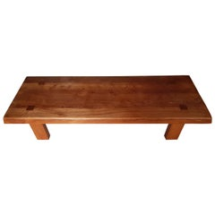Coffee Table Pierre of Chapo French Elm of 1970