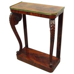 Good Regency Figured Mahogany Console Table / Pier Table