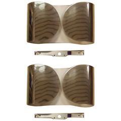 "Pair of ""Foglio"" Sconces by Tobia Scarpa for Flos"