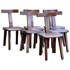 Set of Six Chairs by Olavi Hanninen, Finland 1950s