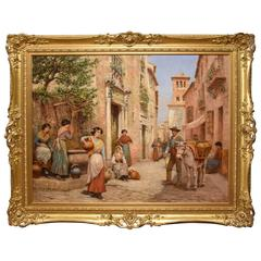 """A Continental Street Scene"" by Arthur Trevor"