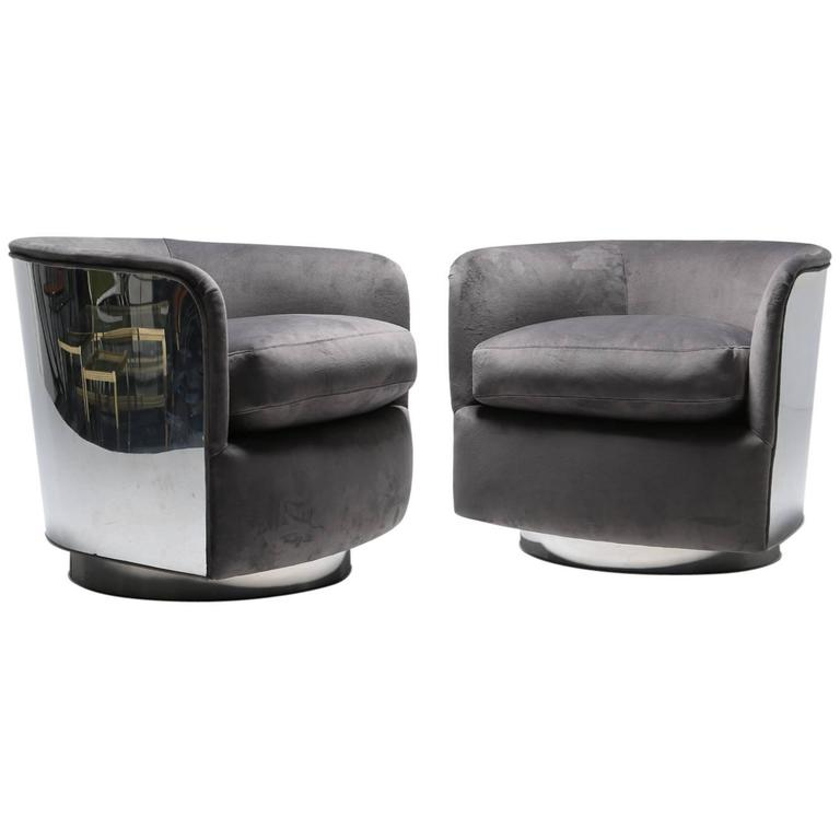 Mid-Century Modern Tub Chairs by Milo Baughman at 1stdibs