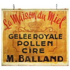 20th Century Hand-Painted French Bee Keepers Trade Sign