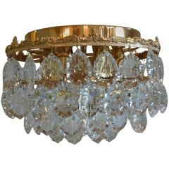 Hollywood Regency Style Palwa Flush Mount Chandelier