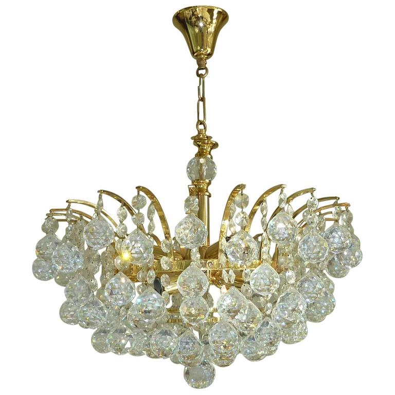 Vintage crystal ball chandelier attributed to swarovski for sale at vintage crystal ball chandelier attributed to swarovski for sale mozeypictures Image collections