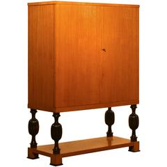 1940s, Beech 'Highboy' Cabinet by J.H. Reimers, Sweden
