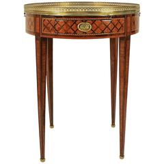 18th Century Louis XVI Marquetry Bouillotte Table