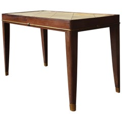 FineFrench Art Deco Rosewood Coffee Table with a Parchment Top and Bronze Detail
