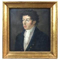 19th Century Portrait of a Man, Unsigned, Oil on Canvas