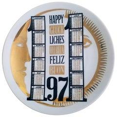 Piero Fornasetti Porcelain Calendar Plate for 1971