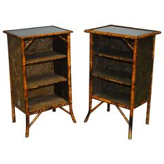 Pair of English Chinoiserie Bookcase Cabinets
