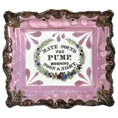Sunderland Lustre Marine Plaque, Mate Sound the Pump, Morning Noon and Night