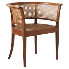 Kaare Klint Early 'Faaborg Chair' in Oak for Rud Rasmussen Produced 1930