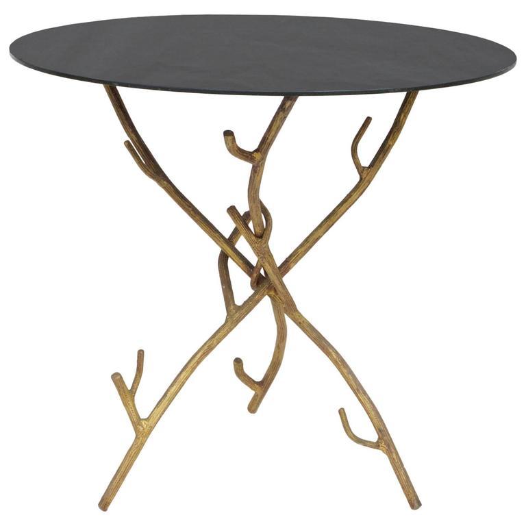 Faux Bois Cocktail Table For Sale