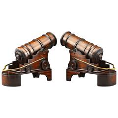 Mahogany Cannon Wine Holders
