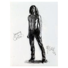 'The Ballet Dancer Joaquin Cortez' Charcoal by Marvin Steel, American